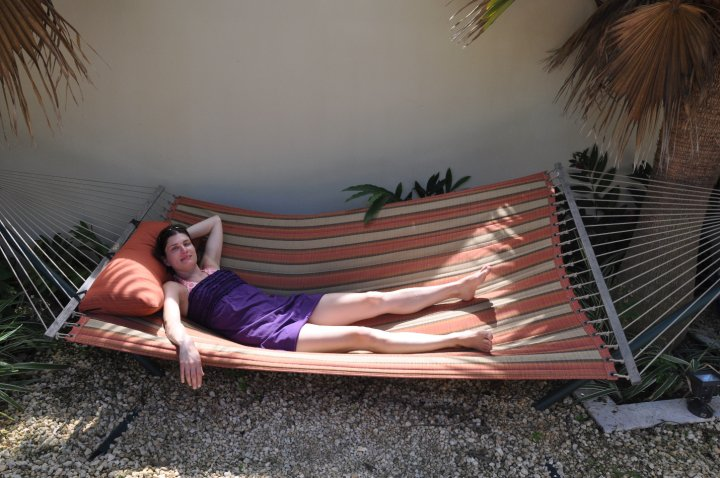 Pre-baby hammock relaxation