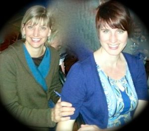 My good friend Erica (left) and me at a girls' night out.