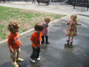 The four kids at age two
