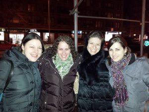Samantha's birthday dinner with her best college friends