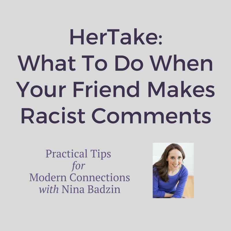 friend makes racist comments