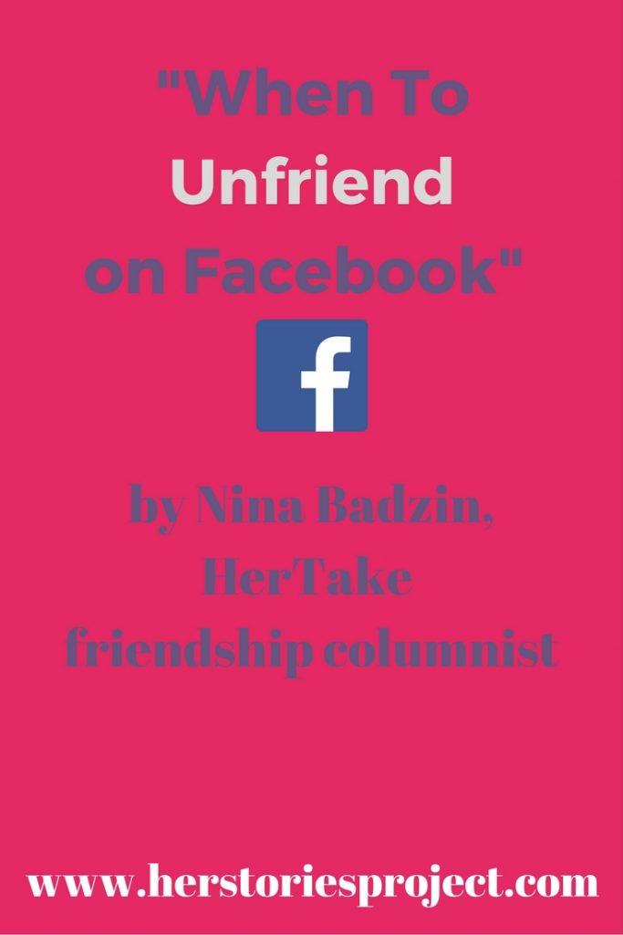 when to unfriend on Facebook