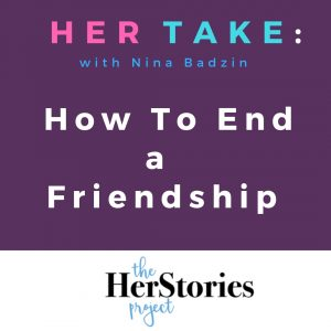 end a friendship