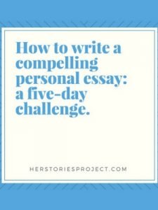 5 day personal essay challenge